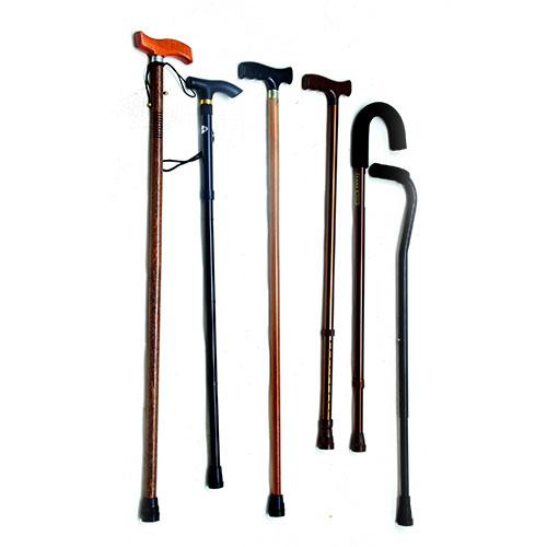 bastones de madera y aluminio regulables