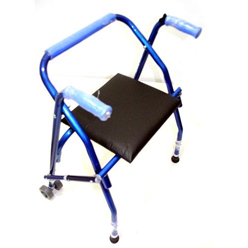 Andador con asiento y ruedas